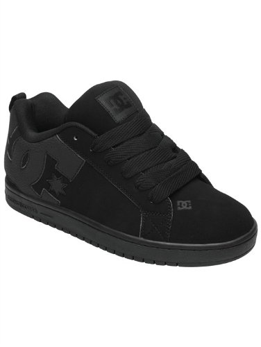 DC Men's Court Graffik Skate Shoe, Black/Black/Black, 10 M US