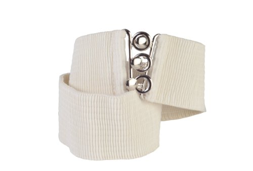 Square Up Medium, Beige, 2.25 Inch Wide Elastic Fabric Stretch Cinch Belt with 3 Ring Clasp