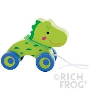 Rich Frog Wooden Pull Toy - Crocodile - 1