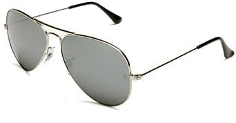 (雷朋)Ray Ban RB3025 Aviator Sunglasses 雷朋飞行员太阳镜 银框银片$82.79