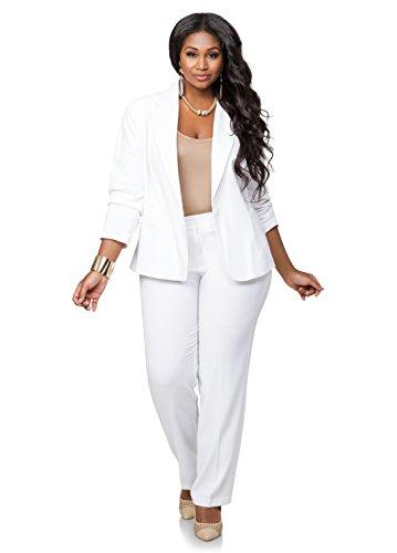 613979b3871 Ashley Stewart Women s Plus Size AVG BACK LEG SEAM TROUSER - Color  White
