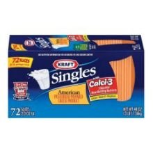 Kraft Singles American Sliced Cheese, 3 Pound -- 6 per case. (021000604913)