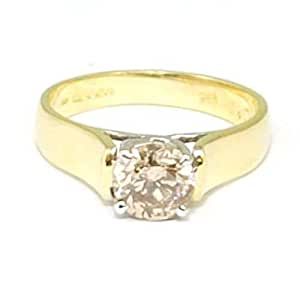 Diamond Solitaire Engagement Ring 18ct Gold 1.02ct I-I1 Size N