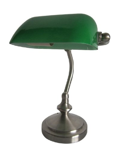 All The Rages Lt3057-Grn Simple Designs Bankers Lamp, Green
