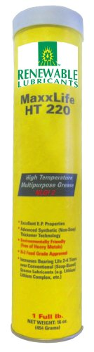 Renewable Lubricants Maxxlife Ht 220 High Temperature Nlgi 2 Multipurpose Grease, 16 Oz Tube