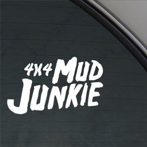 4x4 Mud Junkie Decal Car Truck Bumper Window Sticker