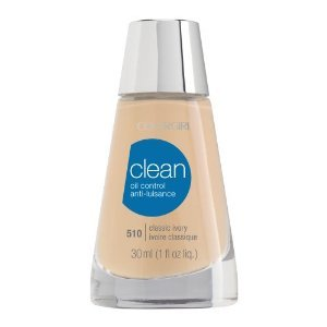CoverGirl Clean Oil Control Liquid Makeup, Classic Ivory (W) 510, 1.0-Ounce Bottles (Pack of 2)