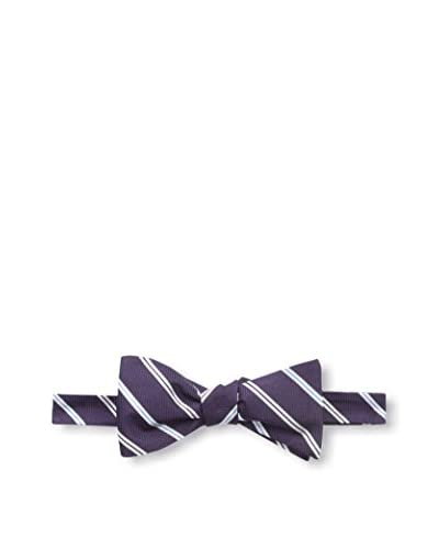 Franklin Tailored Men's Stripe Bow Tie, Purple