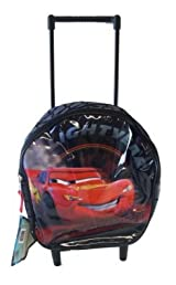 Disney Cars Rolling Backpack -Toddler Size Cars Mcqueen Wheeled Backpack