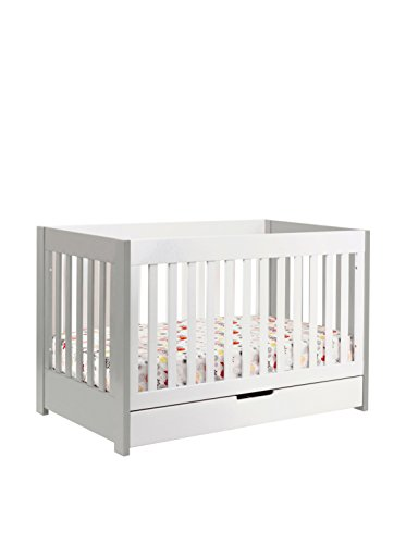 Babyletto Kid's Mercer 3-in-1 Convertible Crib with Toddler Bed Conversion Kit, Grey/White