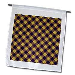 Purple and Gold LSU Tartan Dark purple and yellow - 12 X 18 Inch Garden Flag at Amazon.com