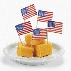 144 USA Flag Picks 2 1/2 Inches Long