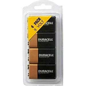 9 Volt Duracell Alkaline Batteries Coppertop 4 Pack MN1604, Long Time