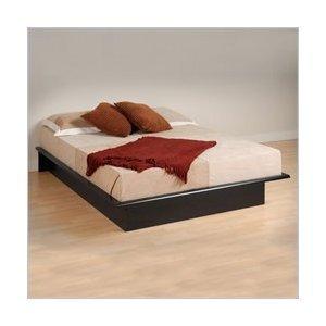 Prepac Black Platform Bed Queen PNo: BBQ-6080-K