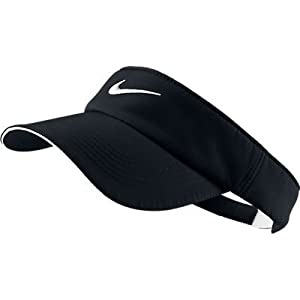 2013 Nike Golf Womens Ladies Dri-Fit Tech Swoosh Visor (Black)