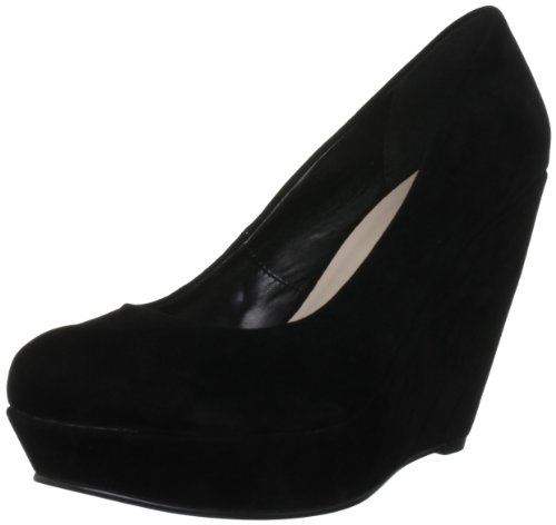 Miss KG Women's Cairo Black Wedges Heels 3184300609