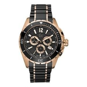 Guess Men's Stainless Steel Case Chronograph Date Black Ceramic Watch X76004G2S
