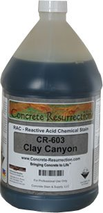 Reactive Acid Chemcial (RAC) Concrete Stain - Clay Canyon - Concrete Stain & Supply, LLC. - RAC-CR-603 - ISBN:B002NRIT92
