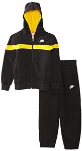 Nike Boy's BF Cuff Warm Up Training Suit - Black/Black/Black/White, Small(8-10yrs)
