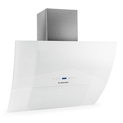 Klarstein-RGL90WH-Hotte-aspirante-design-moderne-pur-90cm-550m-timer-verre-blanc