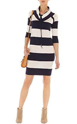 Sporty Stripe Knit Dress