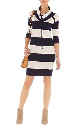 Sporty Stripe Knit Dress