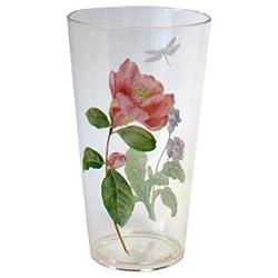 Corelle Coordinates Camellia 19 Ounce Acrylic Glasses Set of 6