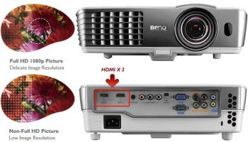 The BenQ W1080ST Home Theater Projector with Colorific Technology