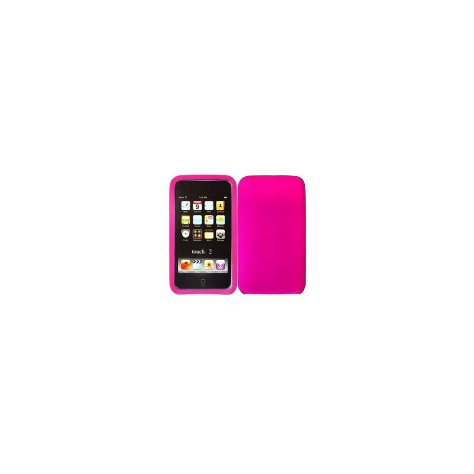 mobile palace  Pink silicone case cover pouch holster for Apple ipod touch 2
