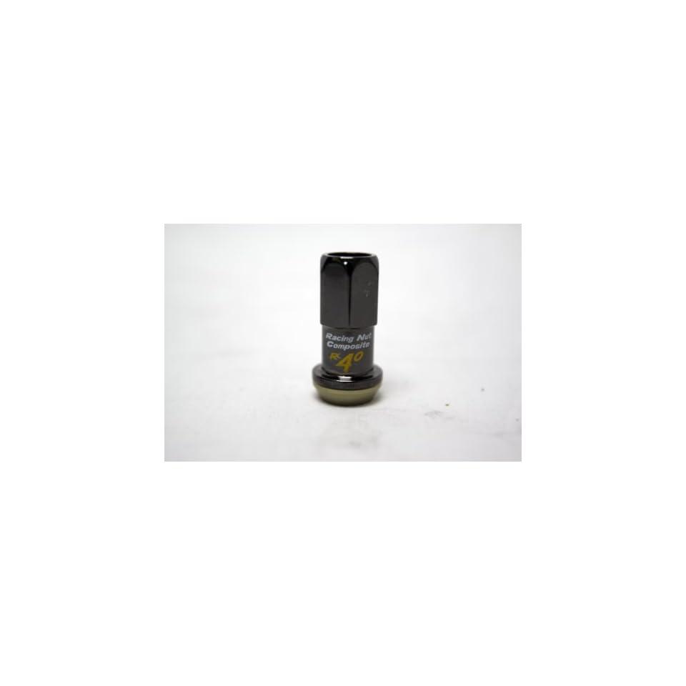 Kics 31875 R40 Black Chrome (12mm x 1.25 Thread Size) Wheel Lock, (Set of 20)