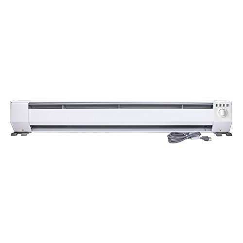 King KP1210 1000-Watt 120-Volt 4-Foot Portable Baseboard Heater, Bright White (1000 Watt Electric Heater compare prices)