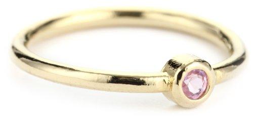 Lisa Stewart Pink Single Stone Ring, Size 6