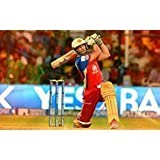 AB De Villiers Cricket Poster. Printelligent Poster Collection Of Sports Stars For Die Hard Cricket Fans. Images Of Wall Posters For Room In Home And Office. Poster-136