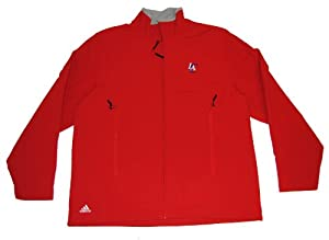 Los Angeles Clippers Adidas Mens Red Full-Zip Fleece Sweatshirt (L) by adidas