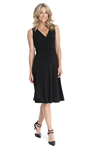 Rekucci Women's Slimming Sleeveless Fit-and-Flare Tummy Control Dresses (16