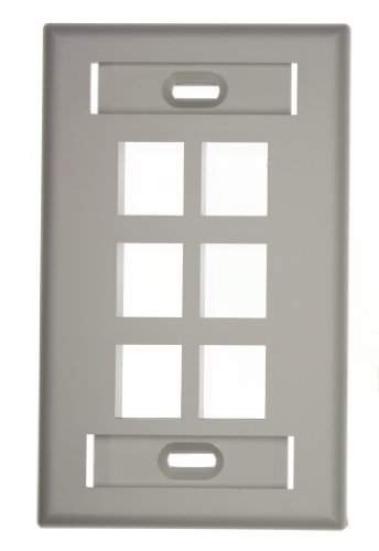 leviton-42080-6gs-quickport-wallplate-with-id-window-single-gang-6-port-grey
