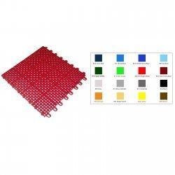 "Mateflex II Floor Tiles (Silver Metallic) (.625""H x 12""W x 12""D)"