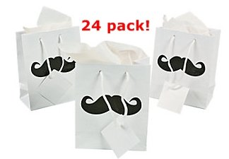 Why Should You Buy Small Mustache Gift Bags - 24 Pc Moustache Party Bags
