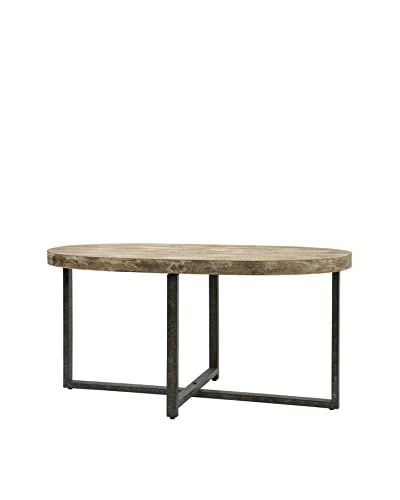 Loxley Wood And Iron Coffee Table, Natural/Black