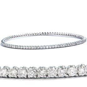 3.33CT 14K White Gold Bangle Diamond Bracelet