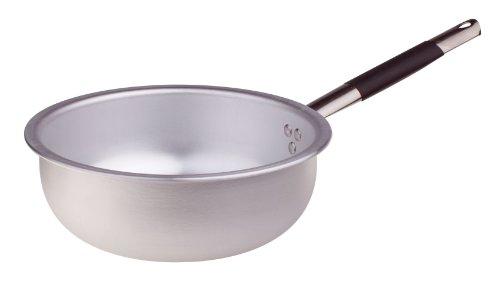 Pentole Agnelli Mantecare Padella Salta Pasta e Riso, in Alluminio, Spessore 3 mm, con Manico Tubolare in Acciaio Inossidabile Cool, Argento, 20 cm