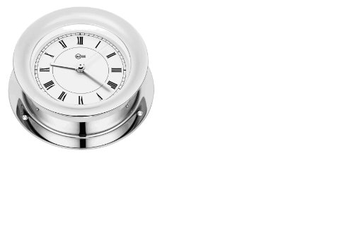 Barigo 1137cr Quartz Clock With White Dial And Chromed