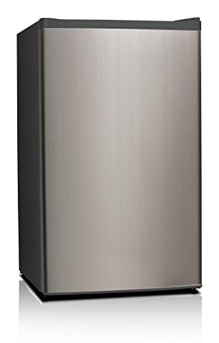 Midea WHS-121LSS1 Compact Single Reversible Door Refrigerator and Freezer, 3.3 Cubic Feet, Stainless Steel (Stainless Steel Mini Fridge compare prices)