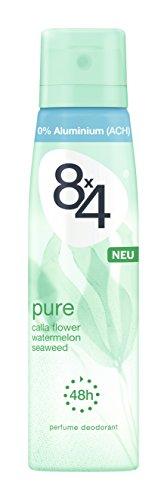 8x4 Deo Spray Pure, ohne Aluminium, 6er Pack (6 x 150 ml)