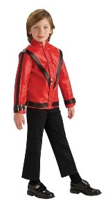 Michael Jackson Deluxe Red Thriller Jacket Child Accessory Size Large