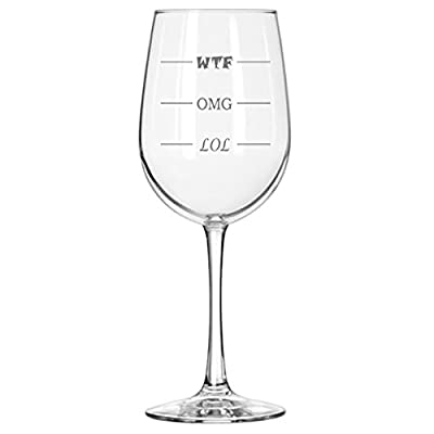 LOL-OMG-WTF Funny Glass - Finally a Glass for Every Mood!