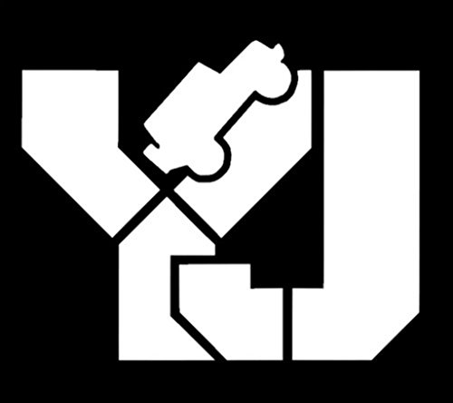 YJ Jeep Decal Vinyl Sticker|Cars Trucks Walls Laptop|WHITE|5.5 In|KCD461 (Center Console Jeep Yj compare prices)
