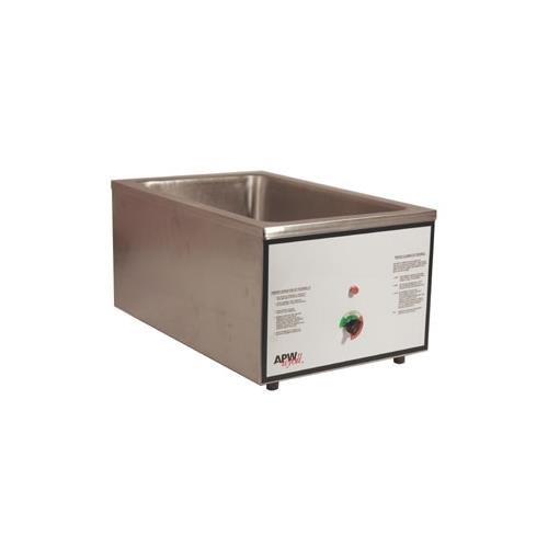 Apw Wyott Cwm-2V Full Size Food Cooker/Warmer, 22 Qt, Wet Or Dry, Stainless, 120 V, Each