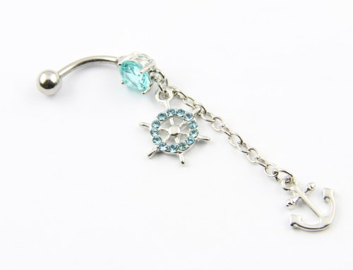 316L Surgical Steel 14 Gauge Navel Belly Ring