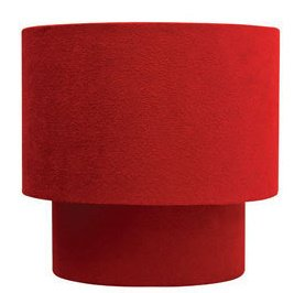 Suede Effect Two Tier Lamp Shade For Pendant Ceiling Lights. Red Colour from Homebase